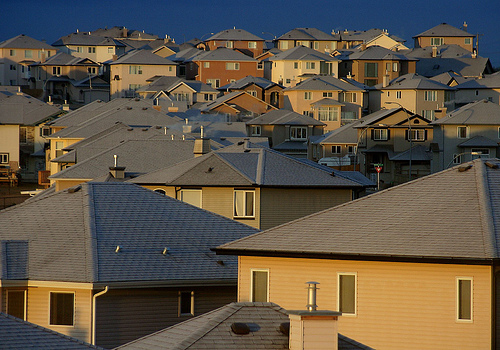 suburban tract homes