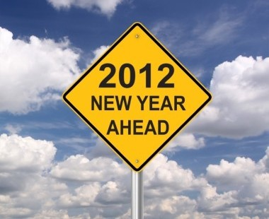 sign: 2012 new year ahead