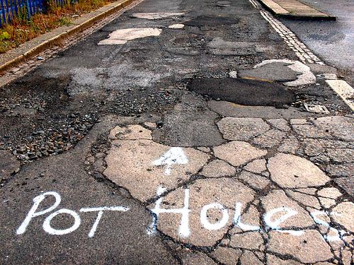 Potholes.