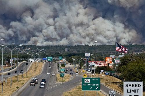 Texas wildfire.