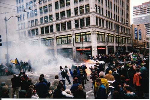 WTO tear gas
