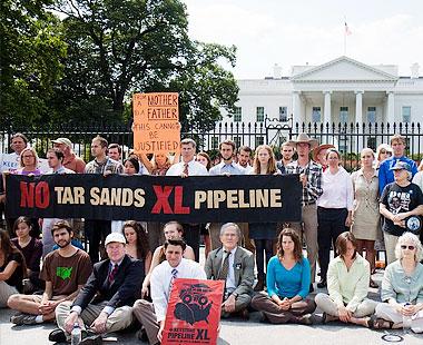 Pipeline protest.