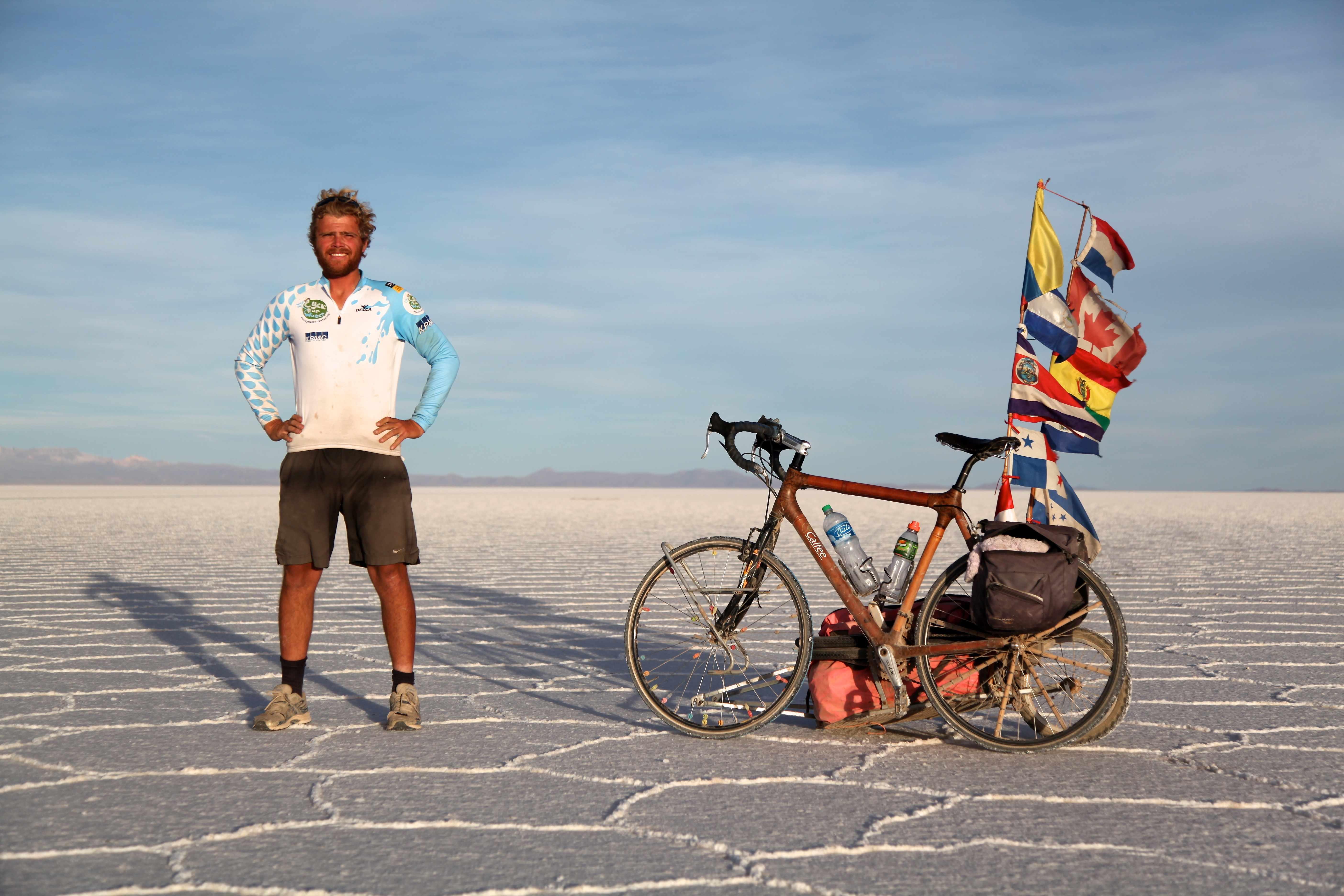 Michiel and his bike