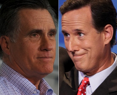 Romney and Santorum
