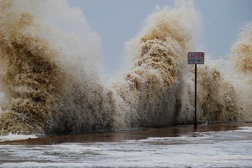 Storm surge.
