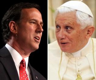 Rick Santorum and Pope Benedict
