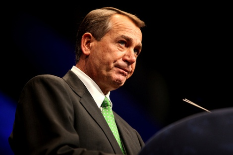 John Boehner, who is only a leader in a theoretical sense