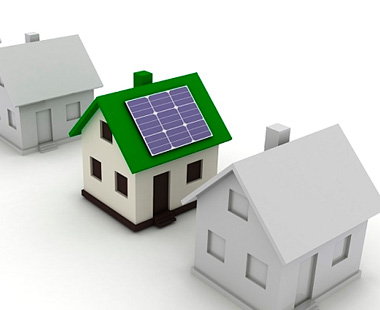 drawing of solar panels on house