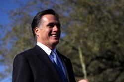 Mitt Romney in front of a tree