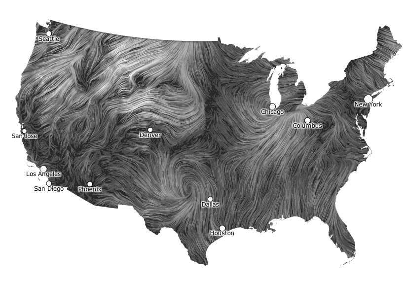 Real Time Wind Map Mesmerizing wind map is the coolest looking weather map ever