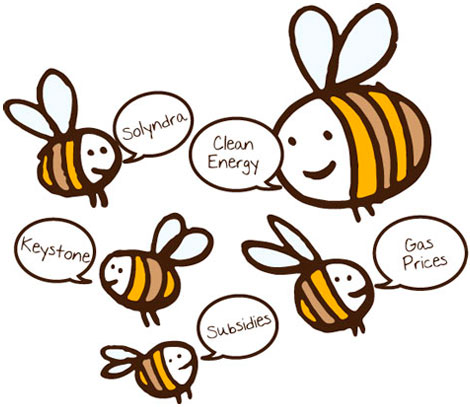 bees saying buzzwords