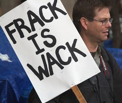 """""""Frack is Wack"""" sign"""