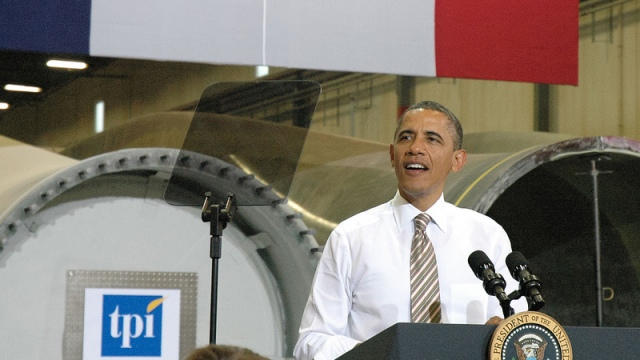 Obama in Newton, Iowa