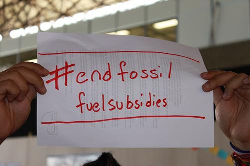 sign: #endfossilfuelsubsidies