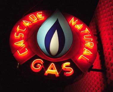 natural gas sign