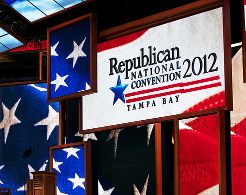 Republican National Convention sign