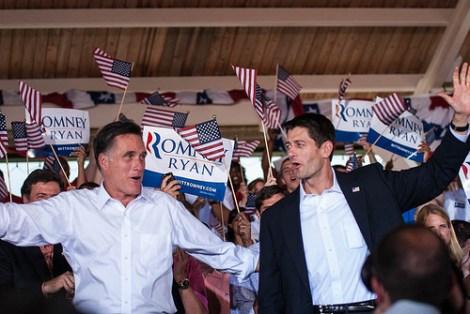 Mitt Romney & Paul Ryan at rally