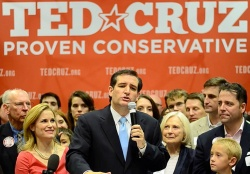 Ted Cruz at campaign rally