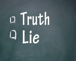 truth vs. lie
