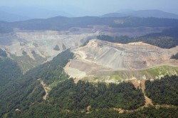 mountaintop-removal coal-mining site