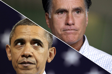 President Barack Obama and Mitt Romney.