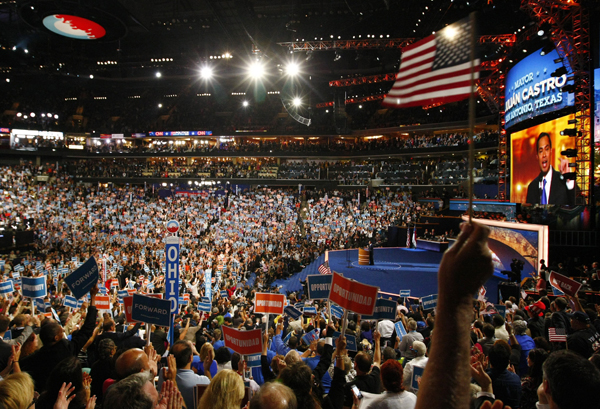 Democratic National Convention on first night