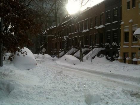 A blizzard in Manhattan, if that makes sense