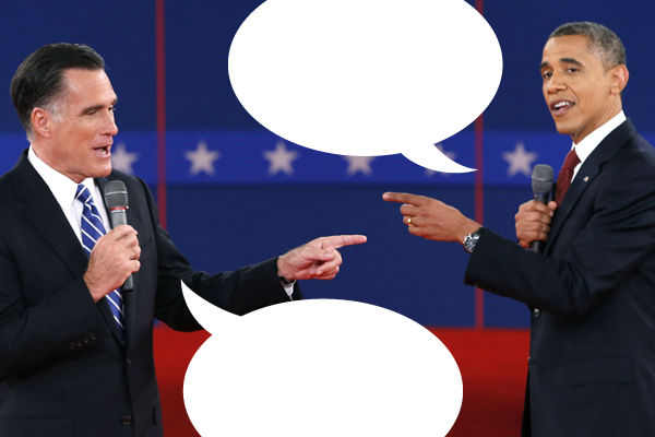 Mitt Romney President Barack Obama during the second U.S. presidential debate