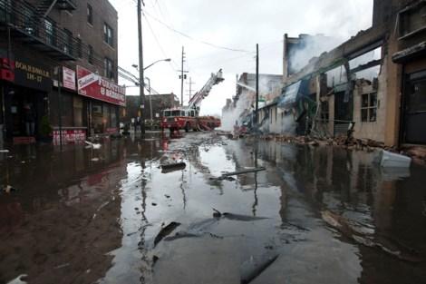 Damage in the Rockaways.