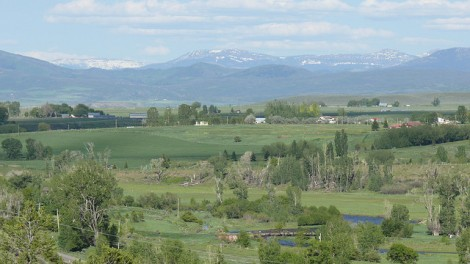 The still-green White River Valley, Colorado
