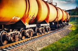 oil cars on train