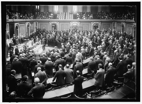 Congress, circa 1912. Or maybe a GOP meeting of some sort. Can't tell.
