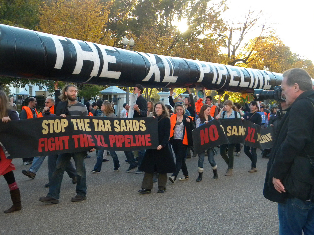 anti-Keystone protestors