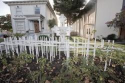 A memorial in Oakland.