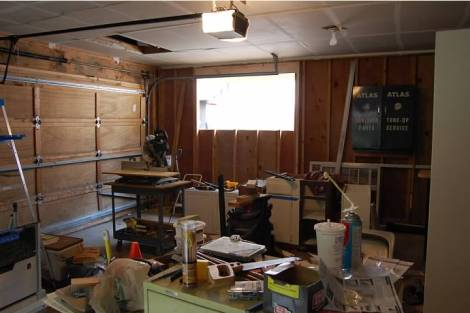 "The Dietzens remodeled a garage into a cottage. Here is the ""before"" shot."