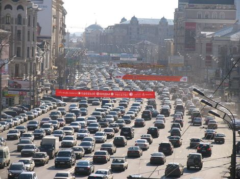 This is a traffic jam in Russia but not the one we are talking about.