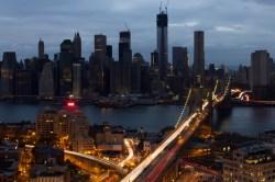 Manhattan, half-dark after Sandy.