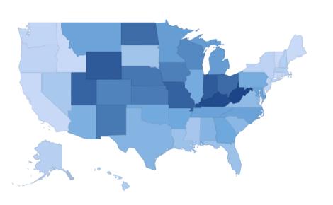 coal as percent 2011