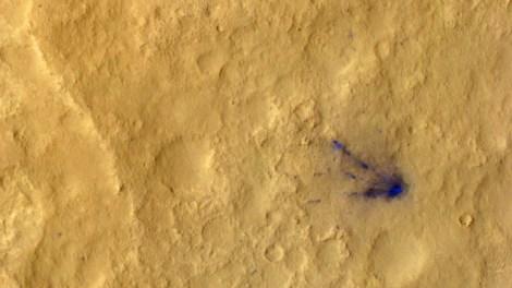 Impact debris from Curiosity's sky crane.