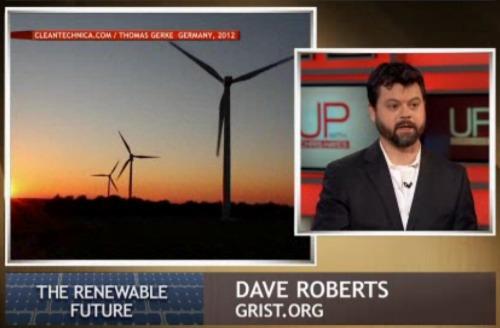 David Roberts on MSNBC, with windmills!
