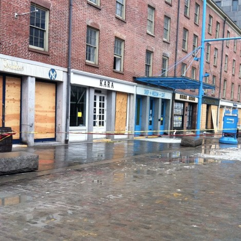 This is what the South Street Seaport looked like this weekend, six weeks after the storm.