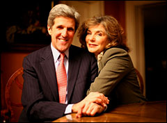 John Kerry and Teresa Heinz Kerry.