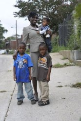Lakiya Culley and her sons