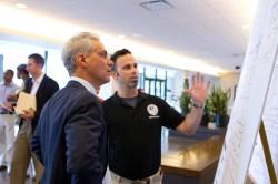 Chicago Mayor Rahm Emanuel and bike czar Gabe Klein