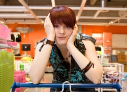 frustrated shopper