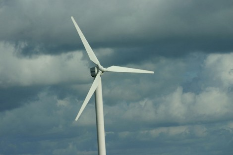 A turbine in Devon, looking a bit nervous