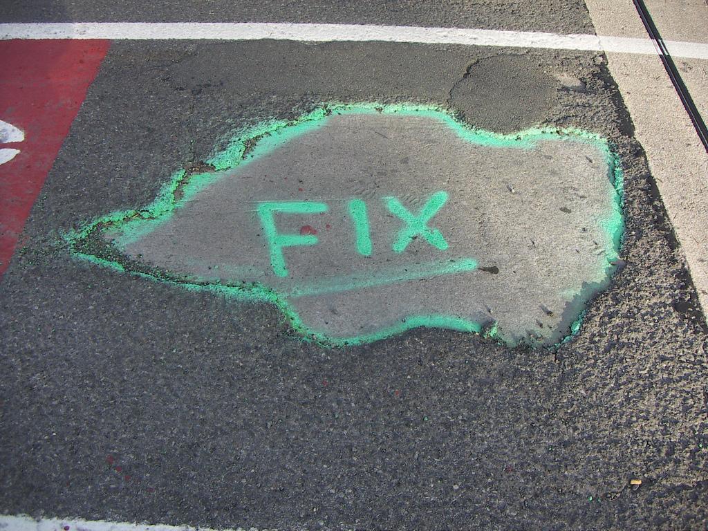 pothole with