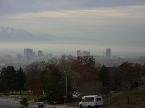 Smog over Salt Lake City, 2006