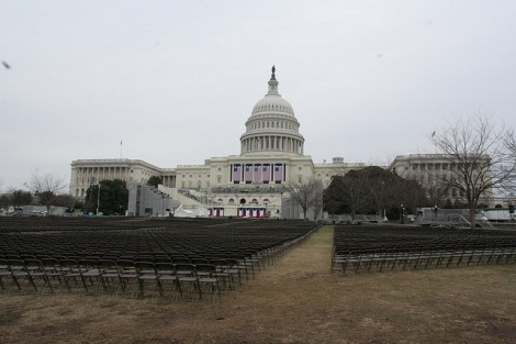 The Capitol awaits the 2009 inauguration