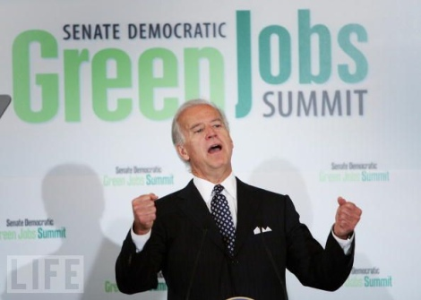 Biden at a 2010 green jobs event